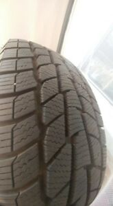 4 Virtually new winter tires and rims 235/70/16