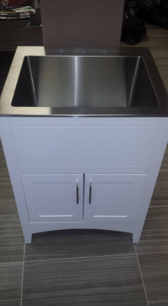 Laundry Sink And Cabinet Combo