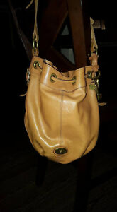 Fossil Leather Bucket Purse