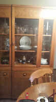 Wooden Hutch and Dining room table