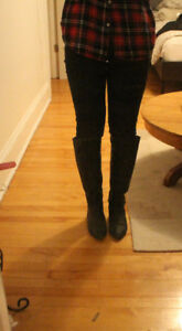 Steve Madden Black Knee High Boots