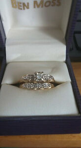 High classed wedding set , 14k gold size 8 and a half.