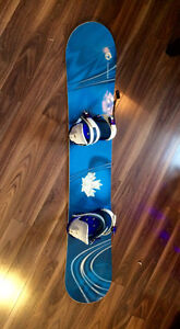Rossignol snowboard, RIDE bindings, Sims boots package