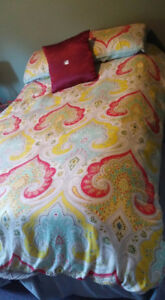 Double size duvet cover and pillow covers