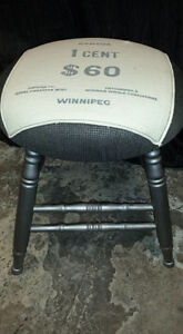 Old Windsor chair turned stool