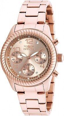 Invicta Women's 20267 Angel Quartz Chronograph Rose Gold Dial Watch