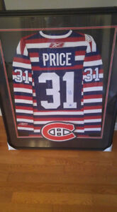 Carey Price signed Montreal Canadiens jersey framed