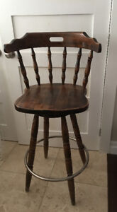 Solid Wood Captain's Colonial Bar Stool $50