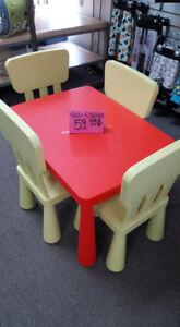 table + 4 chaises iKéa enfants comme neuve