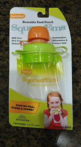 Brand new Squeeze'ems reusable food pouches
