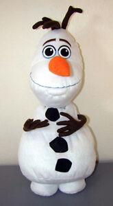 """Large Authentic Disney Frozen OLAF Snowman 22"""" Plush Pillow Fig"""