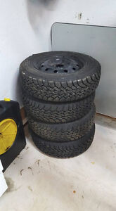 4 GOODYEAR NORDIC WINTER TIRES WITH RIMS Windsor Region Ontario image 4