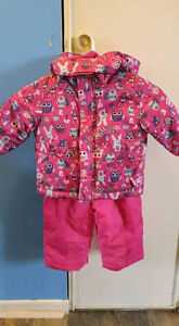 Pink toddler snow suit