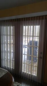 For Sale Almost new White Vertical Blinds