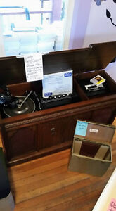 Vintage Stereo Cabinet, Accessories and Original Paperwork
