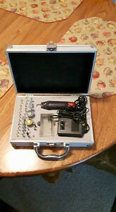 Dremmel tool with case and bits 40.00