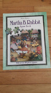 NEW - Martha B Rabbit book and puzzles