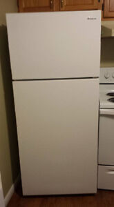 1 year old Amana fridge for sale - and stove