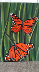 Original hand painted ....Acrylic on canvas butterfly