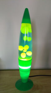 Green lava lamp