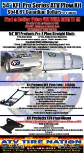 "48-72"" ATV & UTV SNOW PLOWS by KFI Products at ATV TIRE NATION"