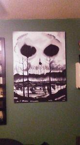 Skull sky acrylic painting Belleville Belleville Area image 2