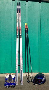 Ladies Cross Country Skis, Boots, Poles, Helmet and Goggles