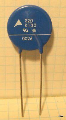 Lot Of 20 S20k130 Epcos Mov Varistor 130 Vac Rms. 170 Vdc 74j 20 Mm D