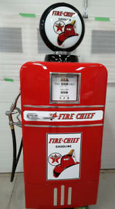 "VINTAGE TEXACO FIRE CHIEF GAS PUMP BEER FRIDGE ""KUSTOM PETRO"""