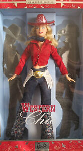 Western Chic Barbie *NEW* Mattel 2001
