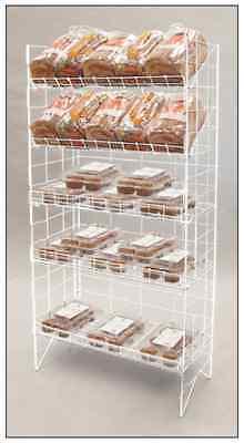 Floor Wire Shelf Display Rack - Adjustable 5 Tier White