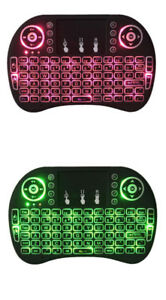 Mini Wireless Keyboard 7 Color LED Backlit Air Mouse Remote