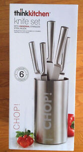 Chop! 6 piece Knife Set think kitchen with universal stainless