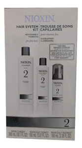 Nioxin 2 Hair System Kit for Noticeably Thinning Fine Hair