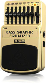 Behringer BEQ700 7 Band Bass Graphic Equalizer for Bass