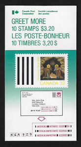 Stamps Canada BK99 #1225a Christmas 1988 - 10 x 32c