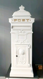 FOR HIRE ONLY White Free Standing Post Box Stands Approximately 1 M