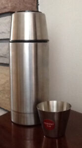 STAINLESS STEEL THERMOS & PADERNO CUP $5! New PYREX BOWL, WHIS