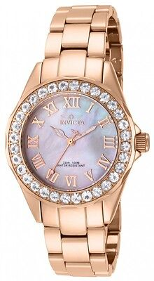 Invicta Women's 14030 Angel Blush Morganite Bezel MOP Dial Stainless Steel Watch