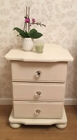 Shabby Chic Painted Bedside Drawers
