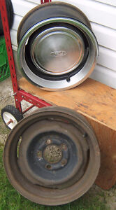 2 Original Ford Steel Rims , from the 1970 's.