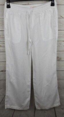 Linen Cropped Capris - Saint Tropez Linen Cropped Pants Capris Small White