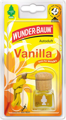 Wunderbaum® 4 Stück Duftflakon Vanille Lufterfrischer Duftbaum Autoduft Flakon
