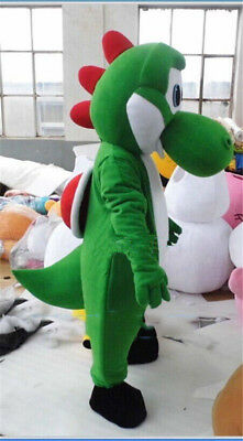 New Super Mario Costume Yoshi Dinosaur Mascot Character Cosplay Suit Dress Adult