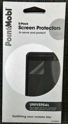 Point•Mobile New 5 Pack Screen Protectors Universal For Mobile Devices 3