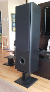 """Tower Speakers 3-way 36"""" Project Ceramic-cone w/ 8"""" stands"""