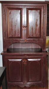 French Canadian Pine Step Back Cupboard