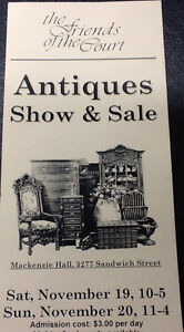 MACKENZIE HALL ANTIQUE SHOW AND SALE Windsor Region Ontario image 1