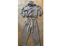 Men's Grey Tracksuit Hoodie / Hoody / Joggers / Bottoms - Good condition - Size small