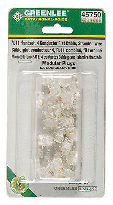 Greenlee 45750,  RJ11 Handset Connector 4 posit., 50 pack
